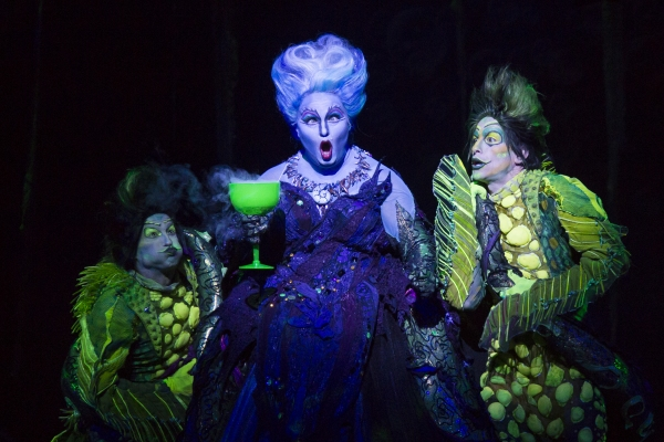 Scott T. Leiendecker as Flotsam, Jennifer Allen as Ursula and Jeffrey Christopher Todd as Jetsam