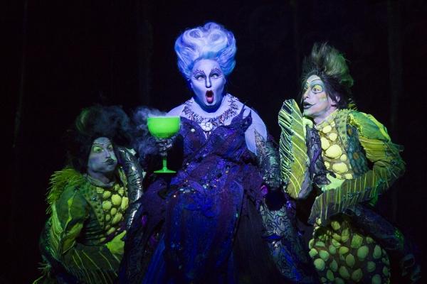 Scott T. Leiendecker as Flotsam, Jennifer Allen as Ursula and Jeffrey Christopher Todd as Jetsam