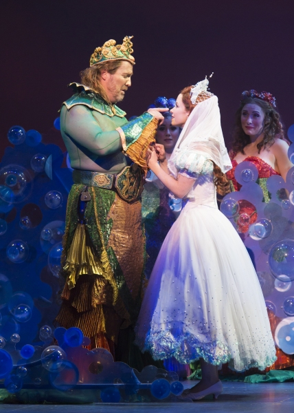 Fred Inkley as King Triton and Alison Woods as Ariel