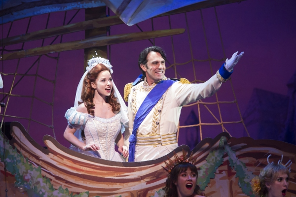 Alison Woods as Ariel and Eric Kunze as Prince Eric