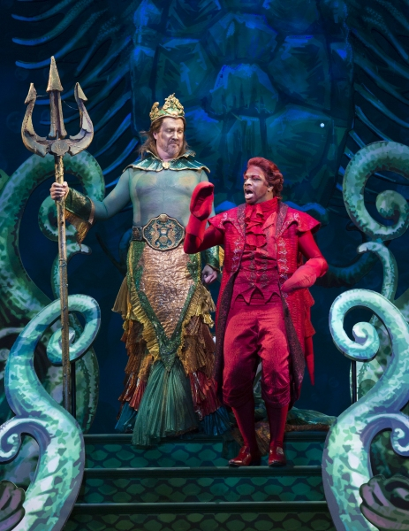 Fred Inkley as King Triton and Melvin Abston as Sebastian