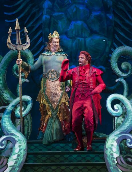 Fred Inkley as King Triton and Melvin Abston as Sebastian