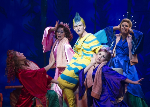 Adam Garst as Flounder and the cast of Disney''s THE LITTLE MERMAID Photo