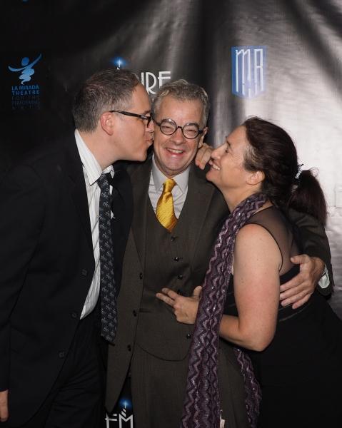 Caroline Sherman and Robert Hull, creators of book, words and music of EMPIRE, with Joe Hart