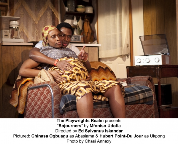 The Playwrights Realm presentsâï�¿½ï�¿½Sojournersâï�¿½ï�¿½ by Mfoniso UdofiaDirected by Ed Sylvanus IskandarChinasa Ogbuagu as Abasiama & Hubert Point-Du Jour as Ukpong