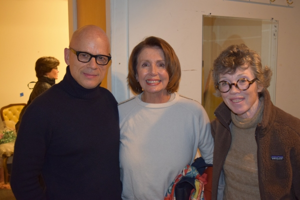 Kevin Sessums, Nancy Pelosi, Carole Shorenstein Hays