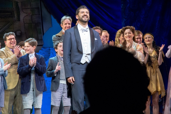 Tony Yazbeck and the cast of FINDING NEVERLAND