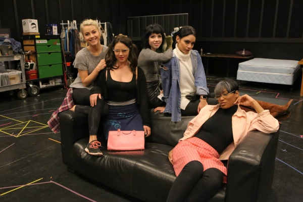 GREASE: LIVE: (L-R): Julianne Hough, Kether Donohue, Carly Rae Jepsen, Vanessa Hudgens,  and Keke Palmer rehearse for GREASE: LIVE airing LIVE Sunday, Jan. 31, 2016 (7:00-10:00 PM ET live/PT tape-delayed), on FOX. Cr: Kevin Estrada/FOX