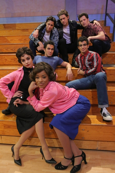 GREASE: LIVE: (Clockwise from top) David Del Rio, Aaron Tveit, Andrew Call, Jordan Fisher, Keke Palmer, Vanessa Hudgens and Carlos PenaVega rehearse for GREASE: LIVE airing LIVE Sunday, Jan. 31, 2016 (7:00-10:00 PM ET live/PT tape-delayed), on FOX. Cr: Ke