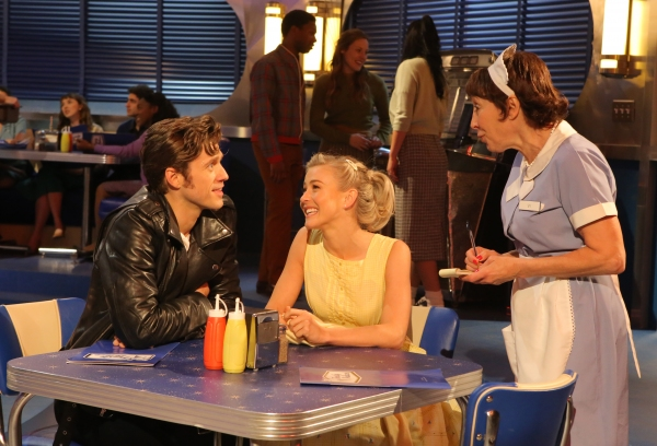 GREASE: LIVE: (L-R) Aaron Tveit, Julianne Hough and Didi Conn rehearse for GREASE: LIVE airing LIVE Sunday, Jan. 31, 2016 (7:00-10:00 PM ET live/PT tape-delayed), on FOX. © 2016 Fox Broadcasting CO. Cr: Kevin Estrada/FOX