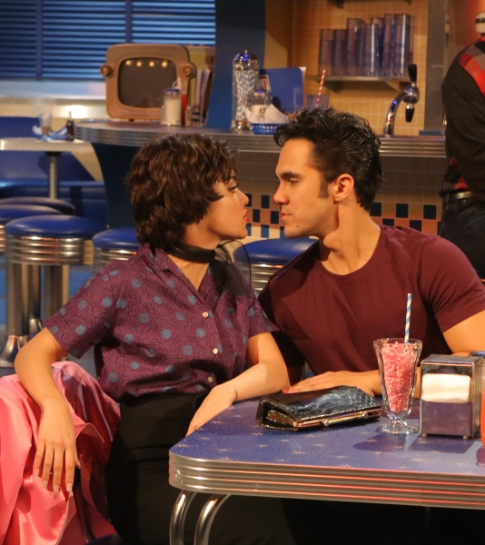 GREASE: LIVE: (L-R) Vanessa Hudgens and Carlos PenaVega rehearse for GREASE: LIVE airing LIVE Sunday, Jan. 31, 2016 (7:00-10:00 PM ET live/PT tape-delayed), on FOX. © 2016 Fox Broadcasting CO. Cr: Kevin Estrada/FOX