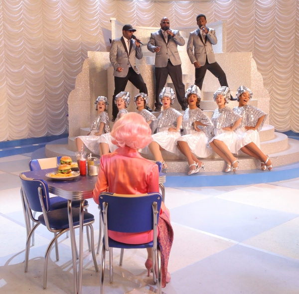 GREASE: LIVE: (L-R) Boyz II Men and Cast rehearse for GREASE: LIVE airing LIVE Sunday, Jan. 31, 2016 (7:00-10:00 PM ET live/PT tape-delayed), on FOX. © 2016 Fox Broadcasting CO. Cr: Kevin Estrada/FOX