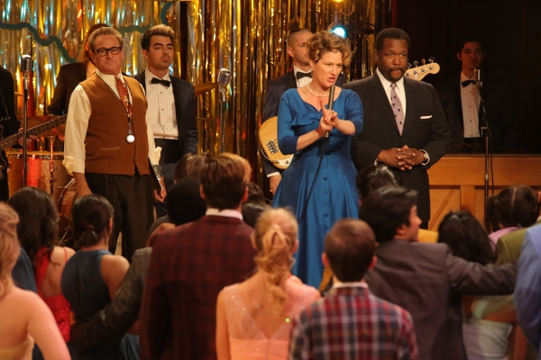 GREASE: LIVE: (L-R) Barry Pearl, Joe Jonas, Ana Gasteyer and Wendell Pierce rehearse for GREASE: LIVE airing LIVE Sunday, Jan. 31, 2016 (7:00-10:00 PM ET live/PT tape-delayed), on FOX. © 2016 Fox Broadcasting CO. Cr: Kevin Estrada/FOX