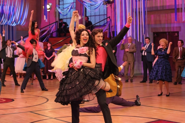 GREASE: LIVE: (L-R) Yvette Gonzalez-Nacer and Aaron Tveit rehearse for GREASE: LIVE airing LIVE Sunday, Jan. 31, 2016 (7:00-10:00 PM ET live/PT tape-delayed), on FOX. © 2016 Fox Broadcasting CO. Cr: Kevin Estrada/FOX