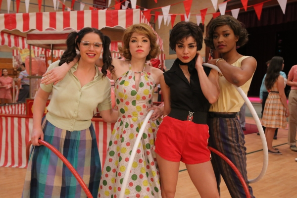 GREASE: LIVE: (L-R) Kether Donohue, Carly Rae Jepsen, Vanessa Hudgens and Keke Palmer rehearse for GREASE: LIVE airing LIVE Sunday, Jan. 31, 2016 (7:00-10:00 PM ET live/PT tape-delayed), on FOX. © 2016 Fox Broadcasting CO. Cr: Kevin Estrada/FOX