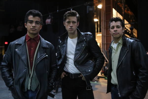 GREASE: LIVE: (L-R) Jordan Fisher, Aaron Tveit and David Del Rio rehearse for GREASE: LIVE airing LIVE Sunday, Jan. 31, 2016 (7:00-10:00 PM ET live/PT tape-delayed), on FOX. © 2016 Fox Broadcasting CO. Cr: Kevin Estrada/FOX
