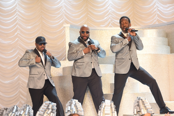 GREASE: LIVE: Boyz II Men rehearse for GREASE: LIVE airing LIVE Sunday, Jan. 31, 2016 (7:00-10:00 PM ET live/PT tape-delayed), on FOX. Cr: Kevin Estrada/FOX