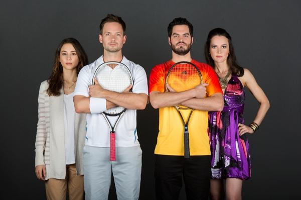 Troian Bellisario, Patrick J. Adams, Alex Mickiewicz, Natalia Payne