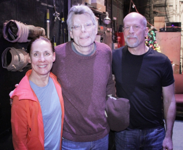 Photo Flash: Stephen King Visits Broadway Cast of MISERY Backstage!