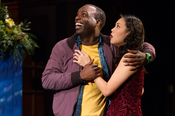 Desmond Bing (Demetrius) and Kim Wong (Helena) star as lovers destined to be in A Mid Photo