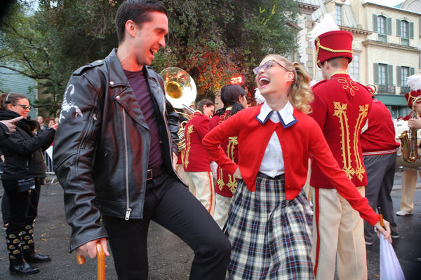 Flash fox shares behind the scenes pics of grease live broadcast
