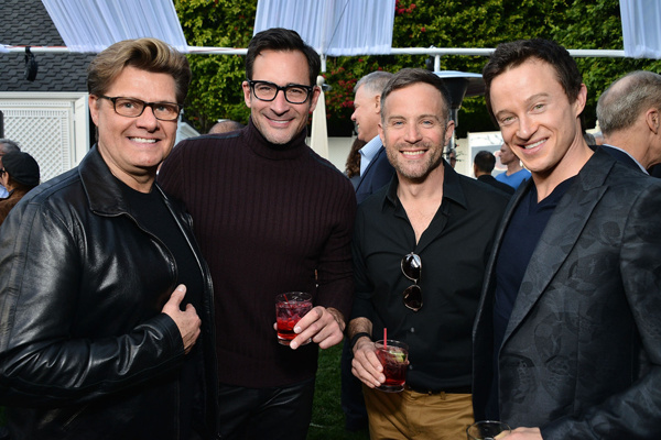 The Fashion Guy Lawrence Zarian joined Project Angel Food for their major donor event Saturday, January 30,2016 at the home of Tim Robinson and Bob Cohen in the Hollywood Hills. Donate at www.angelfood.org.