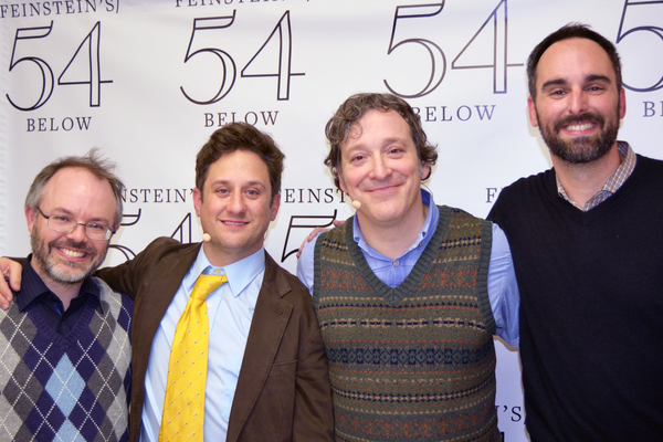 The cast and authors: Scott Brown, Chris Fitzgerald, Jeremy Shamos and Anthony King
