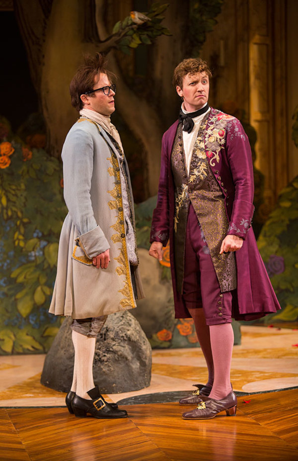 Christian Conn as Damis and Cary Donaldson as Dorant