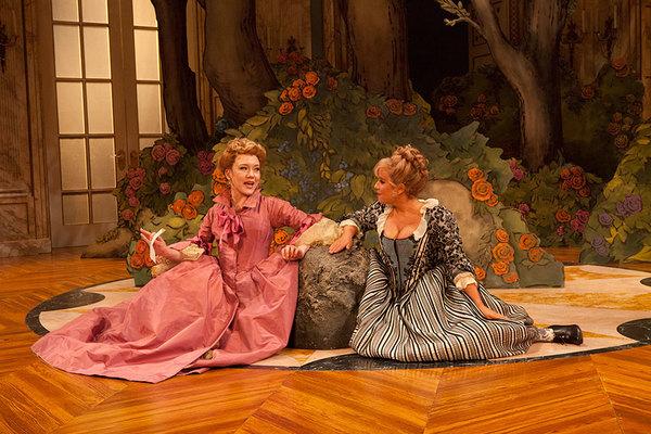 Amelia Pedlow as Lucille and Dina Thomas as Lisette Photo