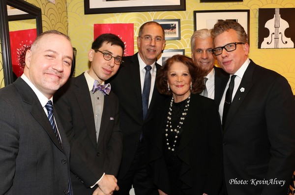 Ron Affif, Aaron Weinstein, Tom Hubbard, Linda Lavin, Steve Bakunas and Billy Stritch
