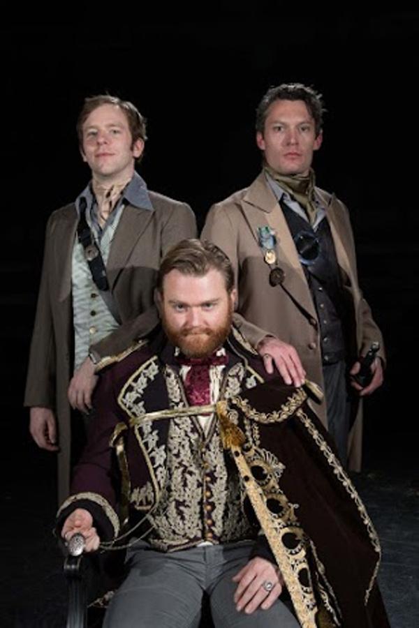 Adam Huff, Nolan Kennedy and Welland H. Scripps. Photo by Theik Smith.