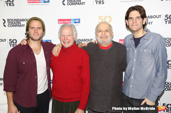 Steven Pasquale, Robert Waldman, Alfred Uhry and Alex Timbers  Photo