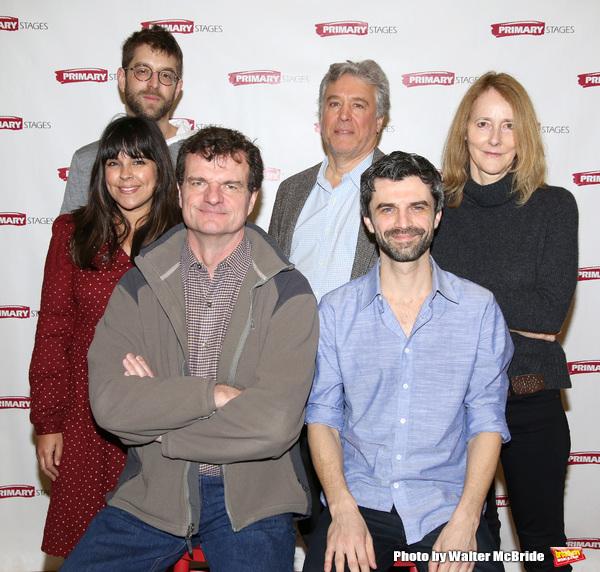 Projection designer Alex Basco Koch, associate artistic  Michelle Bossy, Michael Cumpsty, executive producer Casey Childs, Michael Crane and  Jo Bonney