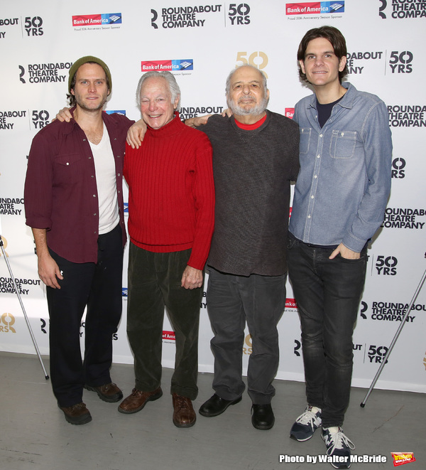 Steven Pasquale, Robert Waldman, Alfred Uhry and Alex Timbers