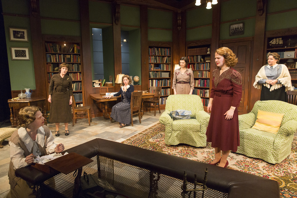 The cast of WOMEN WITHOUT MEN at Mint Theater Company