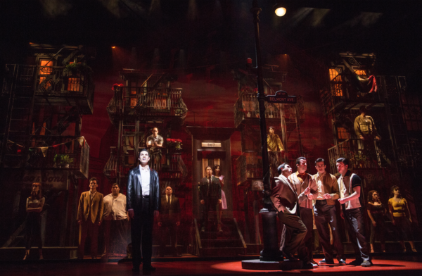 Richard H. Blake (Lorenzo) and the company of A BRONX TALE: THE MUSICAL