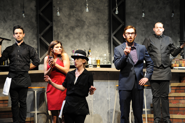 The cast of FIRST DATE at Pittsburgh CLO