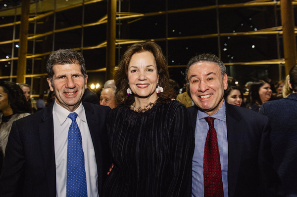 Playwright Anthony Giardina, cast member Margaret Colin (Hester Ferris) and Ralph Neas