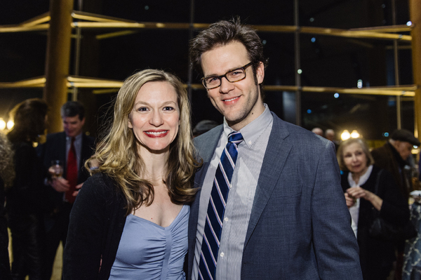 Cast members Caroline Hewitt (Anna Fitzgerald) and Michael Simpson (Colin/Ethan Ferris)