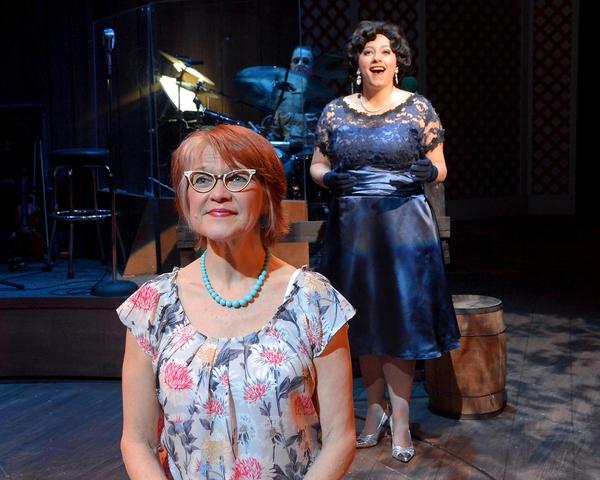 Susann Fletcher as Louise Seger (front) and Erin McCracken as Patsy Cline (back)