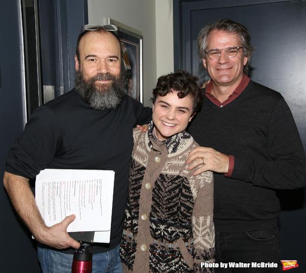 Danny Burstein, Melanie Moore and Bartlett Sher d