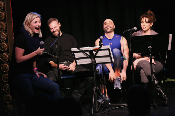 Laura Heywood, with Jim Newman, Eddie Capuano & Lesli Margherita.
