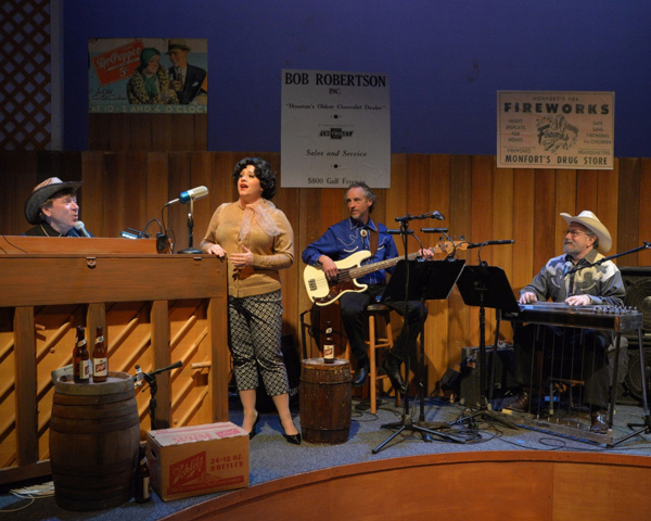 Erin McCracken as Patsy with the band