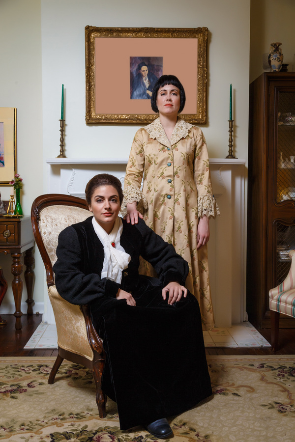 Laurel Semerdjian as Gertrude Stein and Adelaide Boedecker as Alice Toklas