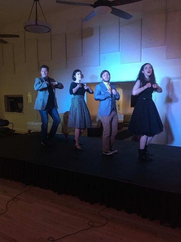 Roy Sexton, Lauren London, Brendan Kelly and Natalie Rose Sevick perform 'Marathon'