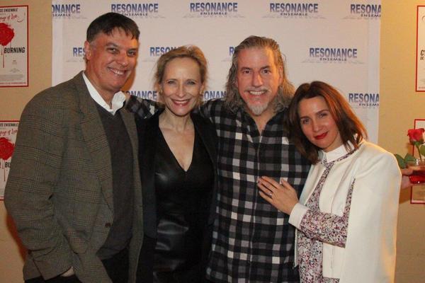 Robert Cuccioli, Laila Robins, Gabriel Barre and Tricia Paoluccio Photo