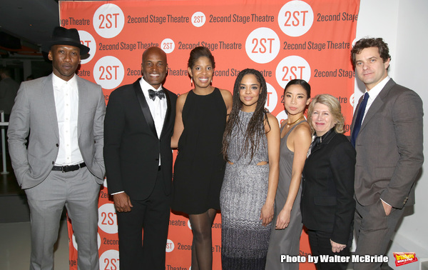 Mahershala Ali, Kenny Leon, Lydia R. Diamond, Tessa Thompson, Anne Son, artistic director Carole Rothman and Joshua Jackson