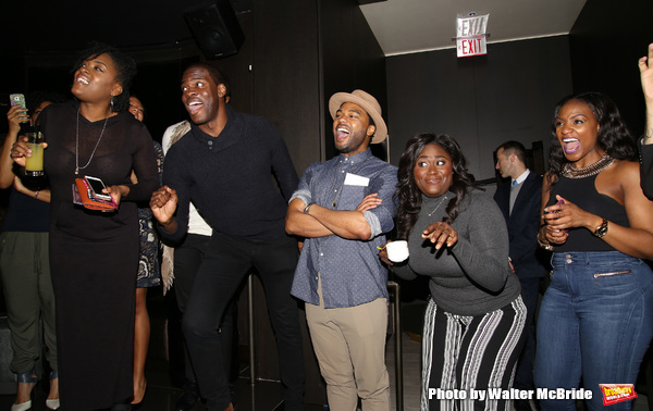 Kyle Scatliffe, Grasan Kingsberry and Danielle Brooks with cast