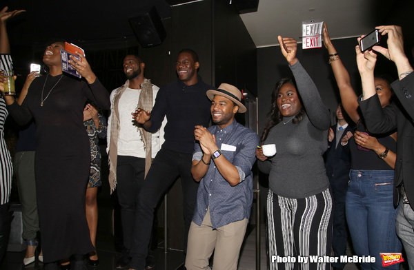 Kyle Scatliffe, Grasan Kingsberry and Danielle Brooks with cast  Photo
