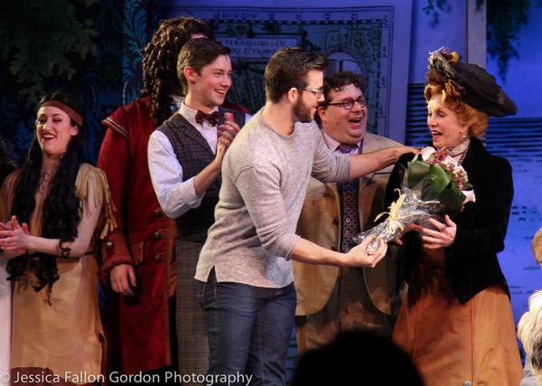 Sandy Duncan and the cast of Finding Neverland